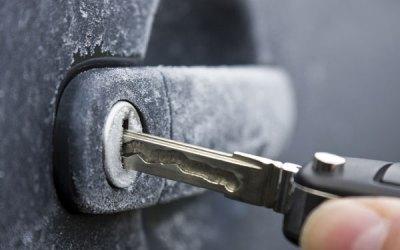 Winter door lock problems