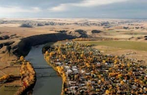 Fort Benton, Montana (courtesy www.kestrelaerial.com )