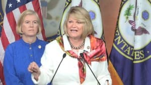 Rep. Cynthia Lummis speaks during a July 22 press conference after House passage of the Cut, Cap and Balance Act.