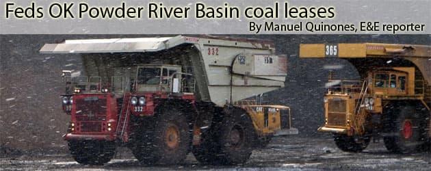 Feds OK Powder River Basin coal leases