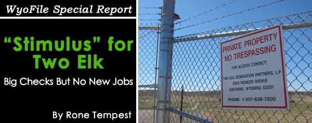 Two Elk Stimulus: Big Checks nut no new jobs
