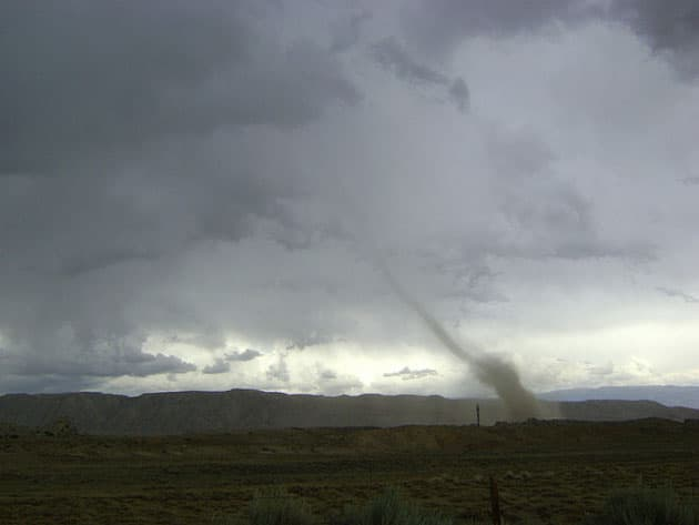 Dust Devil turns into a tornado