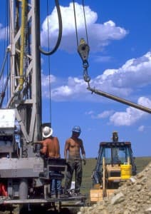 Drill site for coal bed methane, Buffalo Field Office.