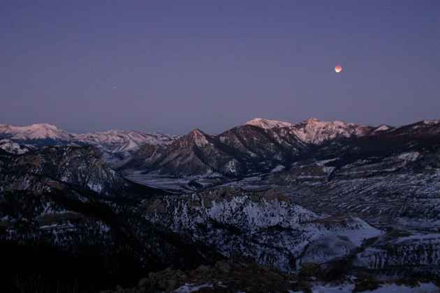 Eclipse at Shoshone Forest