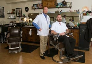 W.D. Barry and David Johnson of the Whiskey Barber