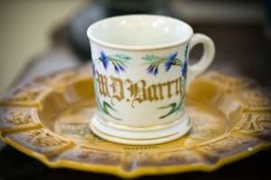 W.D. Barry's shaving mug