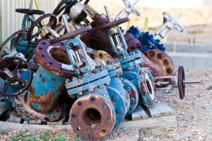 Rusted equipment at Teapot Dome