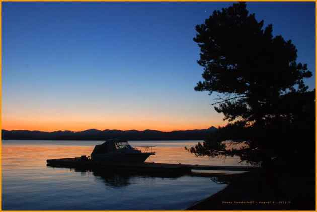 Twilight on Yellowstone Lake
