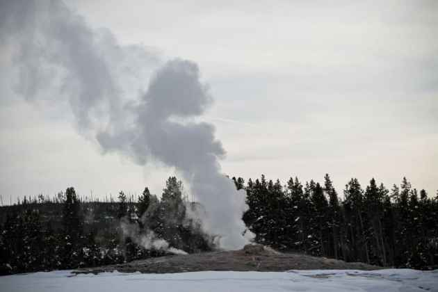 Geysers take on an even more impressive and unearthly look during winter.