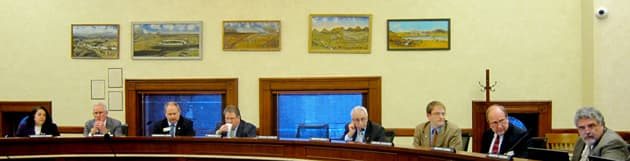 Members of the Joint Management Council met on the evening of Tuesday February 26th to discuss topics for interim legislative committees.  (Gregory Nickerson/WyoFile)