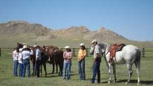 The annual Pathfinder Days celebration feature a rodeo and a feast, attracting hundreds of locals from working ranches. (Dustin Bleizeffer/WyoFile — click to enlarge)