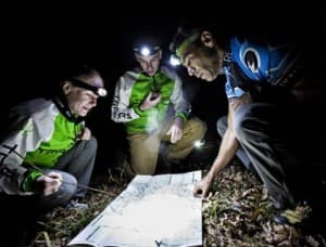 One of the challenges of adventure racing is navigating and traveling at night. (Photo courtesy REV3 racing)