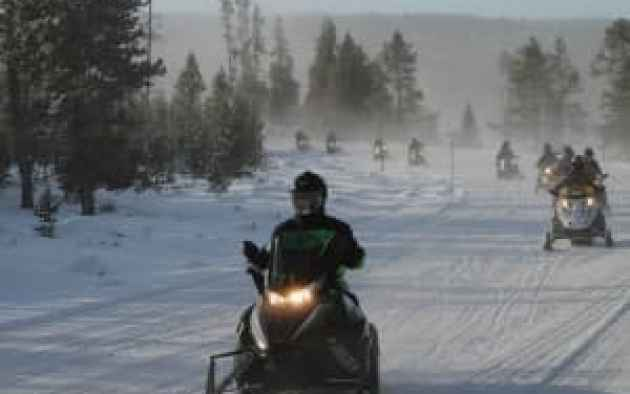 The new rule for winter use in Yellowstone has pleased snowmobile enthusiasts and environmental groups. (Wyofile/Kelsey Dayton)