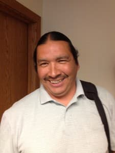 Mike Brown, probation officer. Northern Arapaho Department of Family Services.  (WyoFile/Ron Feemster — click to enlarge)