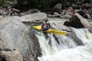 Aaron Pruzan kayaks in Gore Canyon in Colorado in a race he's come close to winning. This year his goal is to finally win it. (Photo courtesy Aaron Pruzan).
