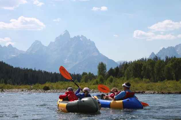 Packrafters outside Grand Teton National Park