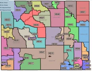 Wyoming House Districts. (Not all districts shown.) (Legislative Service Office — click to enlarge)