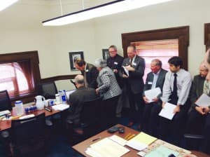 A crowded committee rooming the Wyoming Capitol. (WyoFile/Gregory Nickerson — click to enlarge)