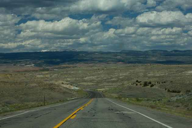 Highway 287 crosses the Wind River Reservation north of Fort Washakie. (Brett Whaley/Flickr — click to enlarge)