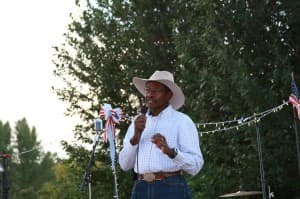 Taylor Haynes speaks at a campaign event. (courtesy photo — click to enlarge)