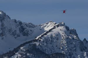 Leading Edge helicopter fliew in tetons to capture bighorn sheep (click to enlarge)