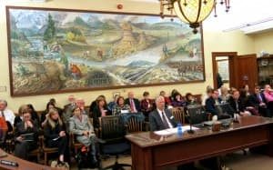 Tom Forslund testifies before lawmakers. (WyoFile — click to enlarge)