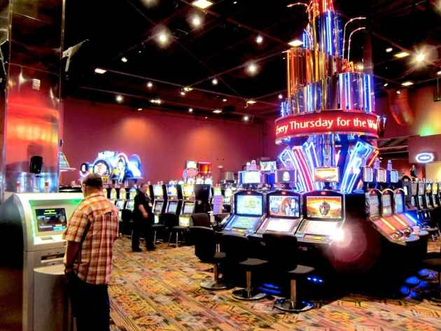 Wind River Casino gaming floor. (Gregory Nickerson/WyoFile — click to enlarge)