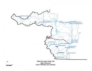 non-fed Platte River reservoirs above Pathfinder basin (click to enlarge)