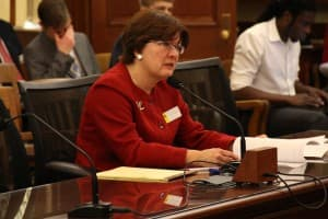 Rep. Sue Wilson (R-Cheyenne) sponsored House Bill 245 as a fallback of the Senate voted down Medicaid expansion. After the Senate vote Harvey saw no chance for the bill to succeed. (Gregory Nickerson/WyoFile)