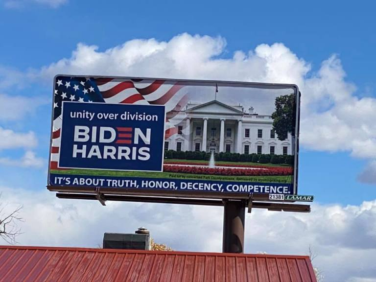 Wyoming Rising billboards in Cody and Powell