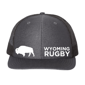 wyoming rugby trucker hat