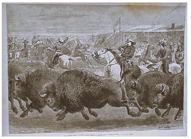 Buffalo Bill polujący na bizony