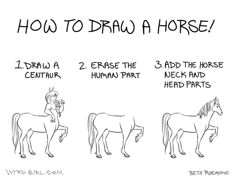 011 How To Draw A Horse