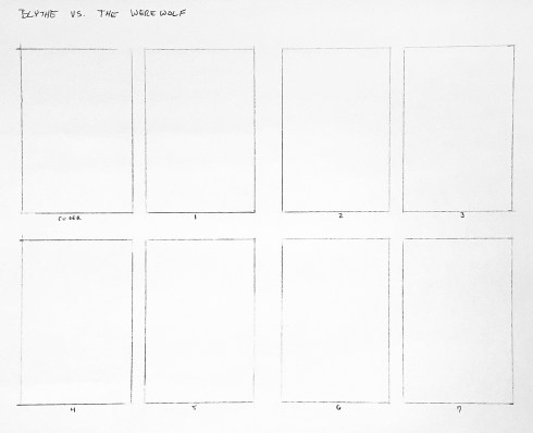 """A series of 8 rectangles arranged two by four, labeled """"cover"""" and 1-7"""