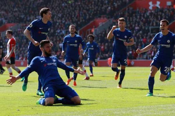 Olivier Giroud Lega Akhirnya Cetak Gol untuk Chelsea