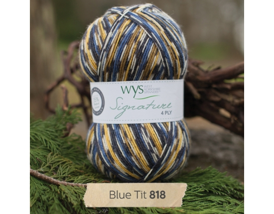 Bluefaced Leicester Country Sock Collection - Birds/ Blue Tit