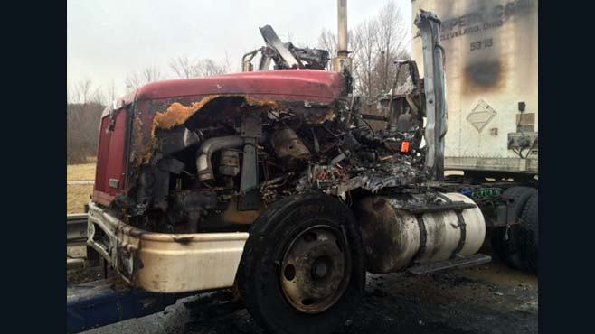 Semi catches fire on Ohio Turnpike_67014