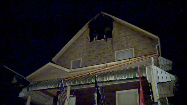 Crews battle house fire in Sharon_95866