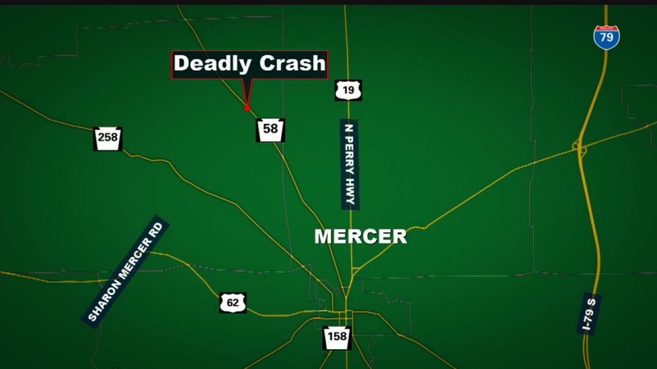 Route 58 in Mercer County closed