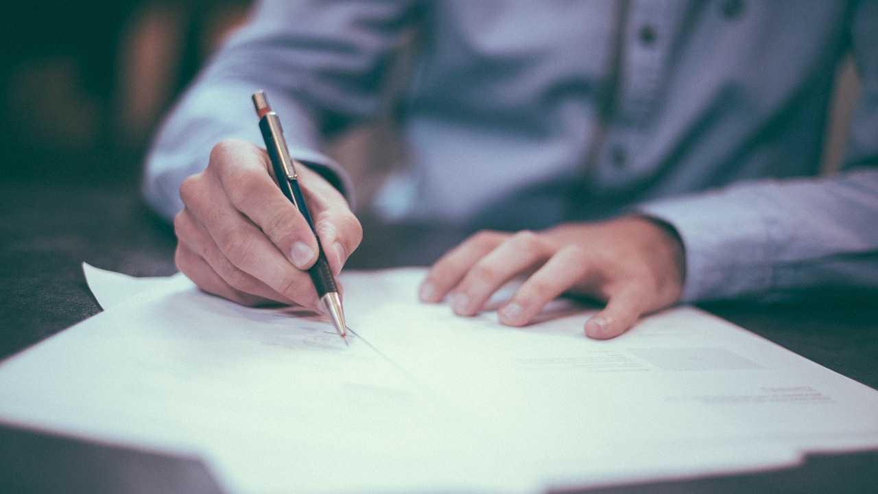 Businessman, writing, letter generic