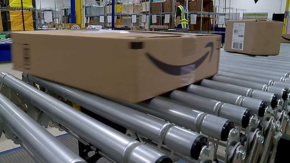 Amazon shipping facility in North Jackson