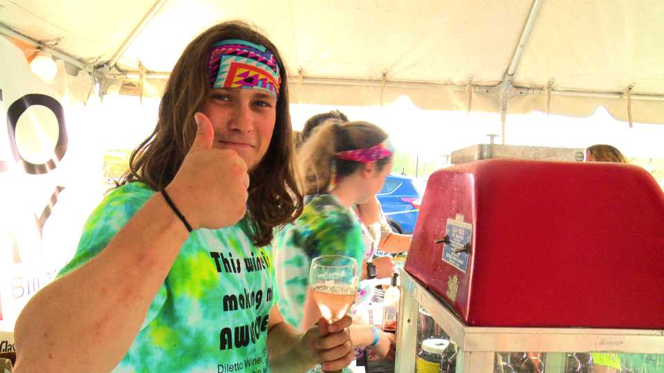 Diletto Winery's wine snow cones at the Columbiana Wine Fest