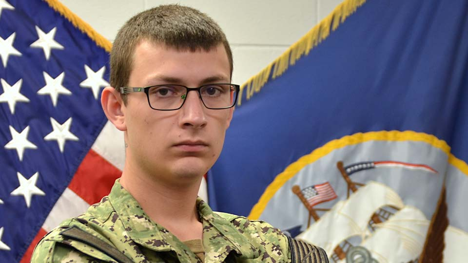 Seaman Duke Duhon, North Jackson, training to be a Navy warfighter