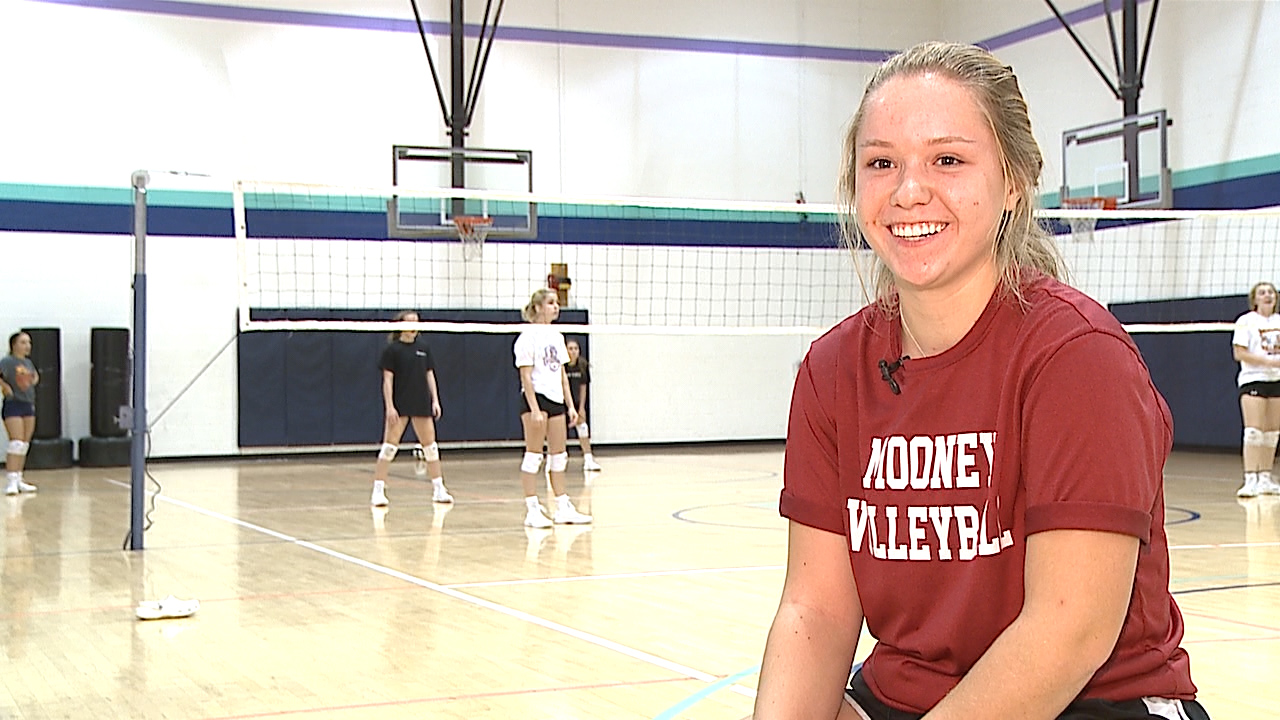 The Cardinal Mooney senior is an All State libero with a 4.4 GPA and a 34 on her ACT.