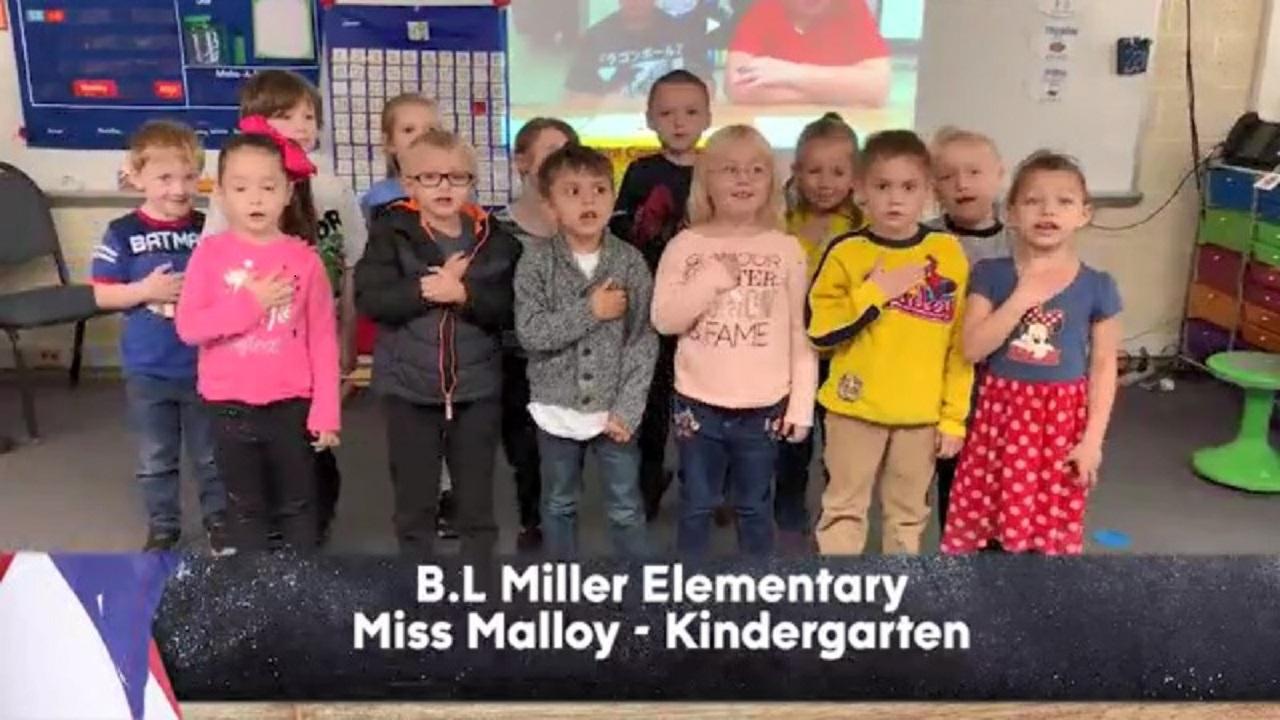 B.L. Miller Elementary - Miss Malloy - Kindergarten