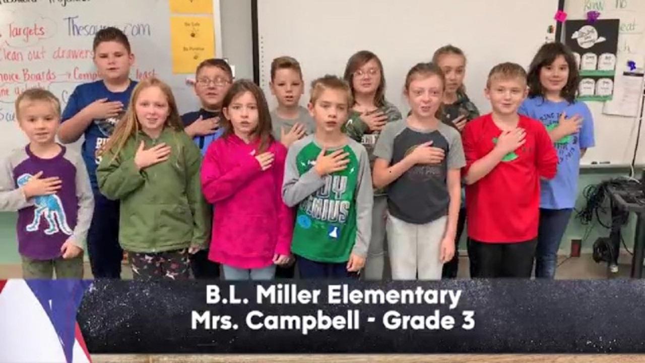 B.L. Miller Elementary - Mrs. Campbell - 3rd Grade