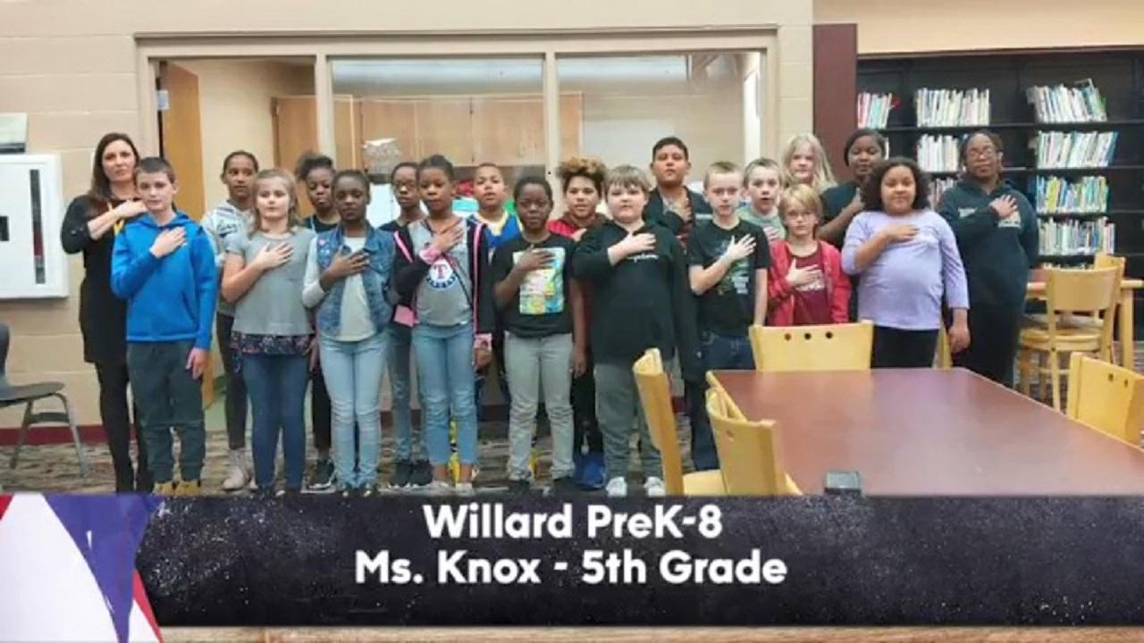 Willard PreK-8 - Ms. Knox - 5th Grade