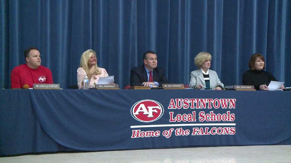 Austintown School Board meeting