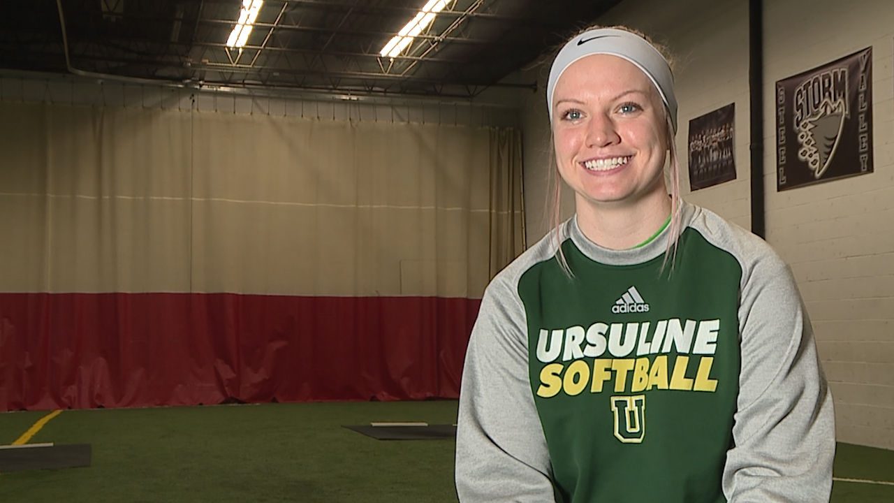 The Ursuline senior is a standout pitcher with 163 career strikeouts, heading to YSU's Honors College next year with a 4.0 GPA.