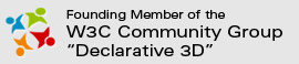 Founding member of the W3C Community Group Declarative 3D